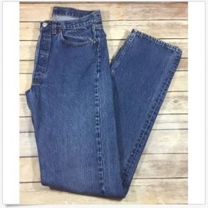Levis Vtg Mens 501 Button Fly Denim Jeans 32 38